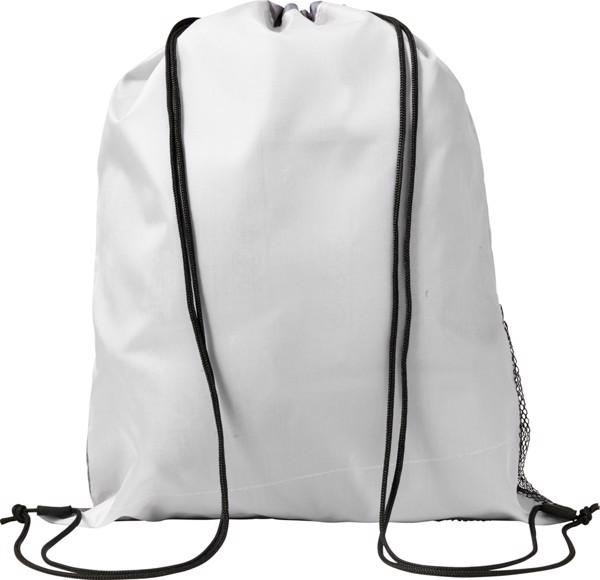 Polyester (210D) drawstring backpack - White