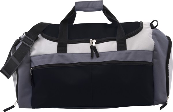 Polyester (600D) sports bag - Black