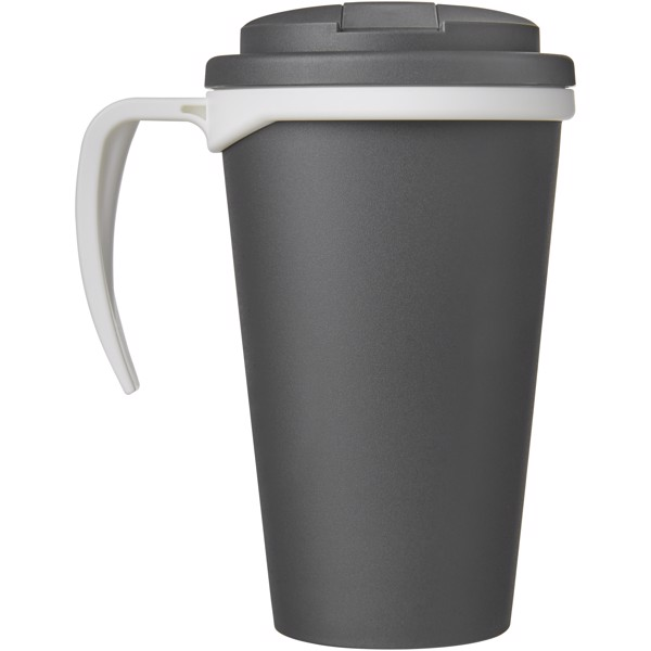 Americano Grande 350 ml mug with spill-proof lid - Grey