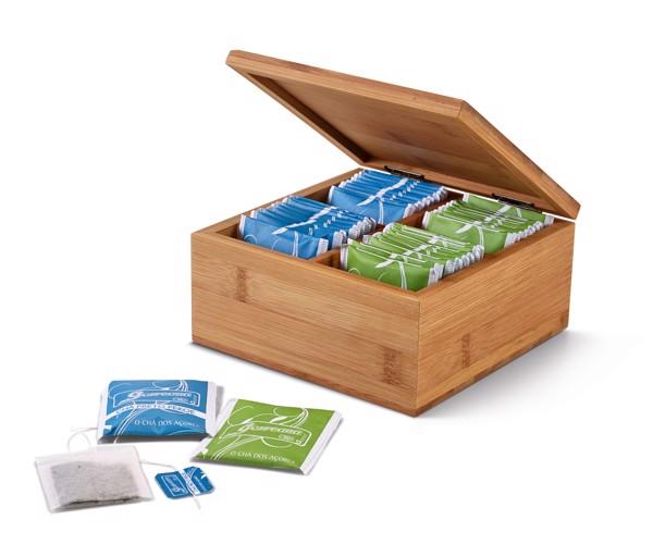 ARNICA. Caja de té de bambú
