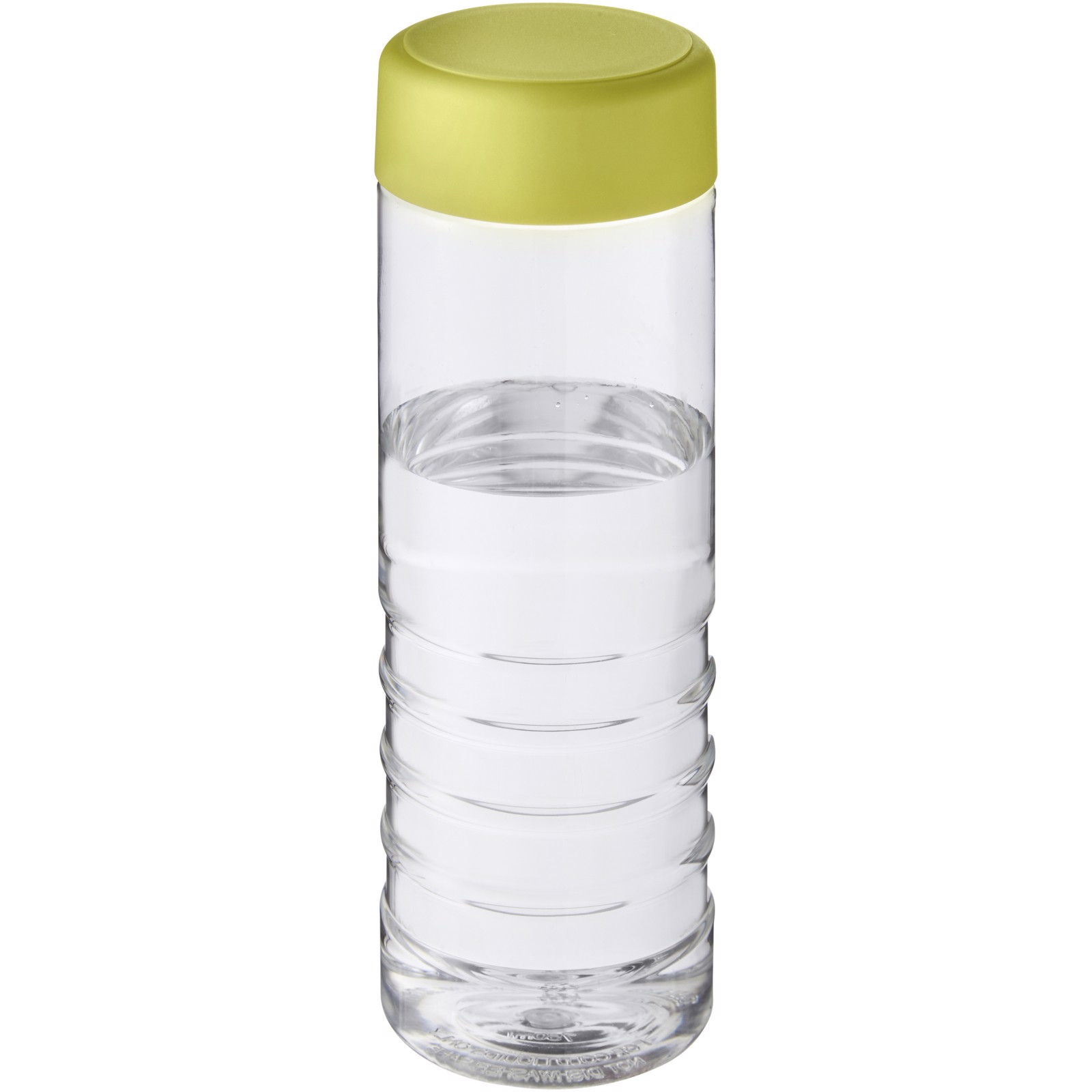 H2O Treble 750 ml screw cap water bottle - Transparent / Lime