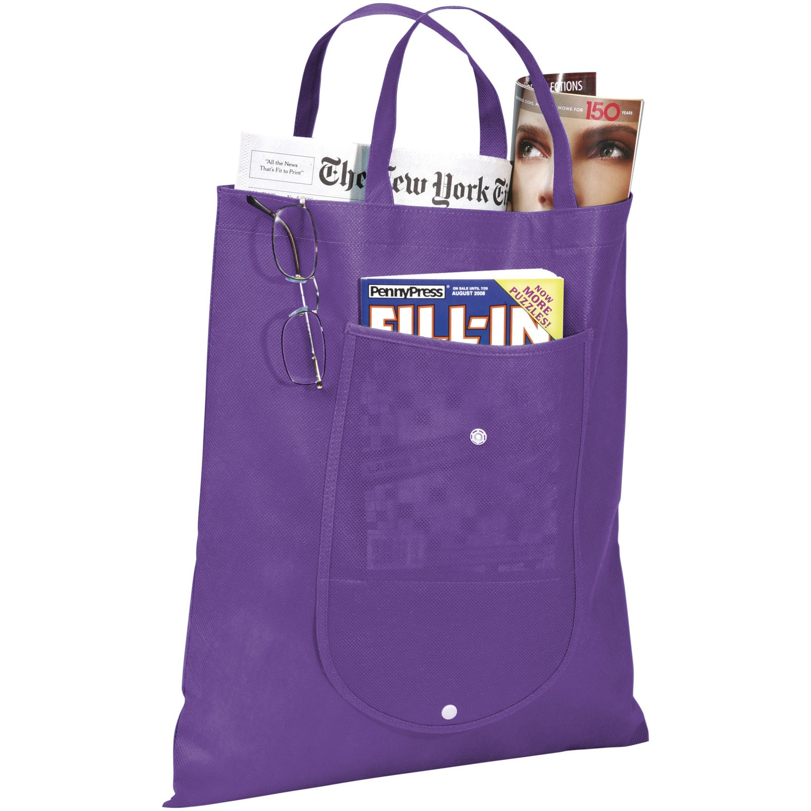 Skládaná netkaná taška - Levandulová