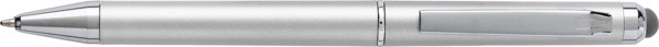 Kugelschreiber 'Livorno' aus Kunststoff - Silver