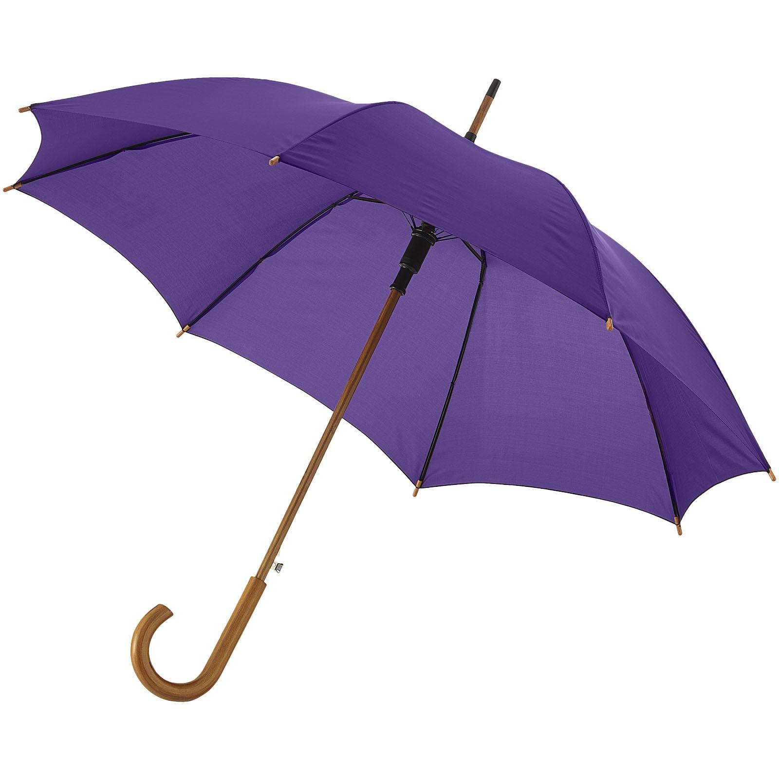 """23"""" deštník Kyle s automatickým otvíráním a dřevěnou tyčí a rukojetí - Levandulová"""