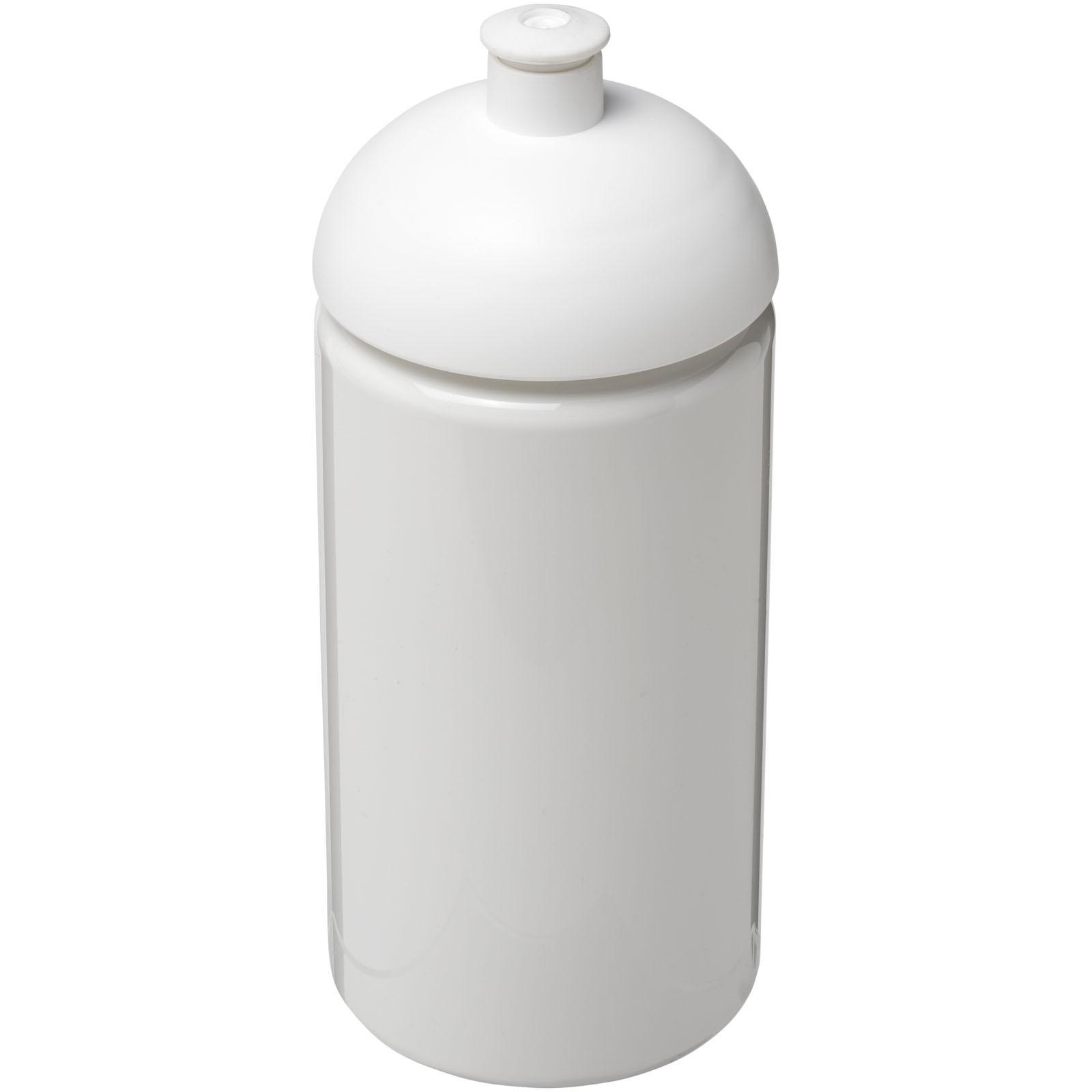 Láhev s kupolovitým víčkem H2O Bop® 500 ml - Bílá