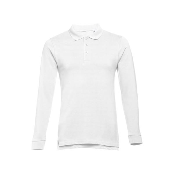 BERN. Herren Langarm-Poloshirt - Weiß / S