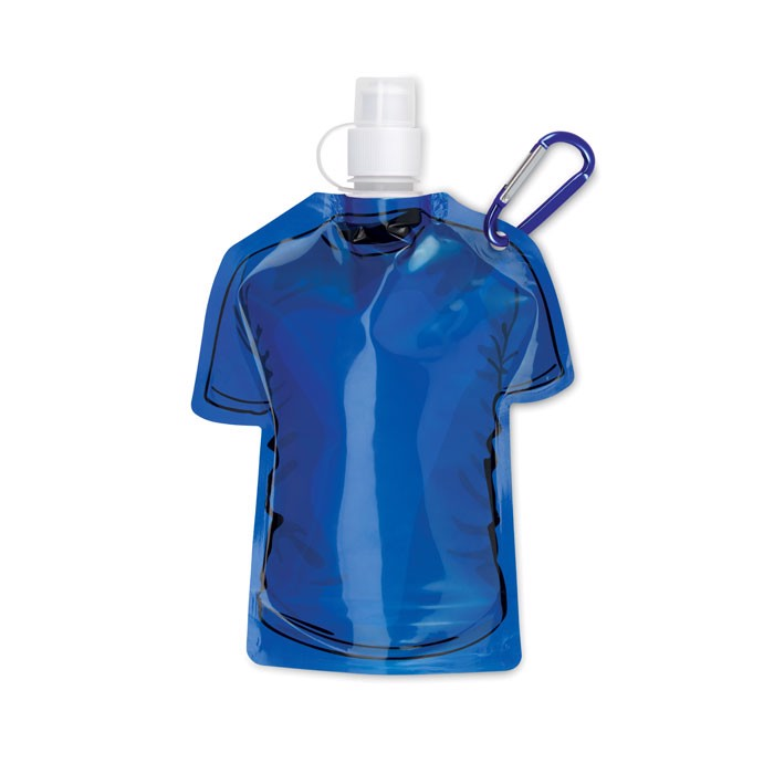 "Faltbare Trinkflasche ""T-Shirt Samy - königsblau"