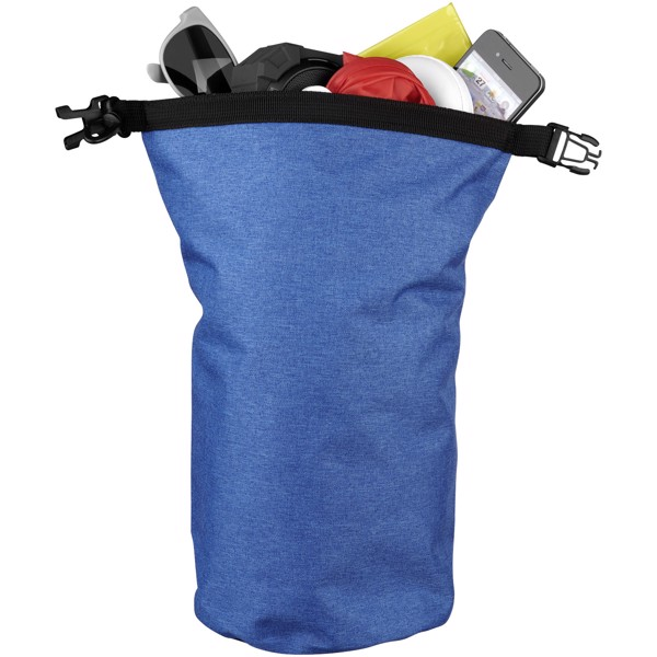 Traveller 5 litre heathered waterproof bag - Heather Process Blue