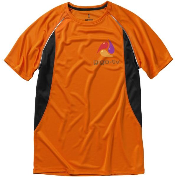 Pánské Tričko Quebec s krátkým rukávem, cool fit - 0ranžová / Anthracitová / XXL