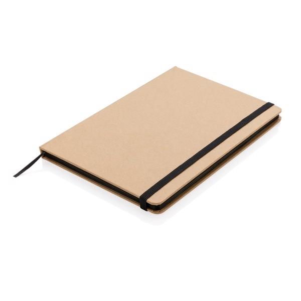 A5-ös jegyzetfüzet újrahasznosított kraft papírból - Fekete