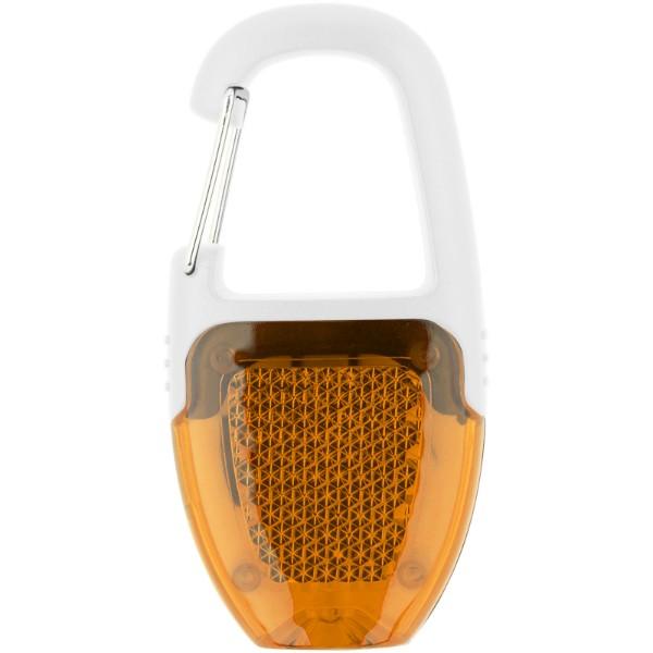 Reflect-or LED keychain light with carabiner - Orange / White