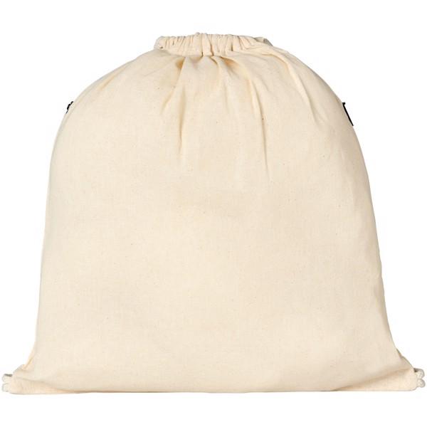 Oregon šňůrkový batoh se zipem - Natural / Černá