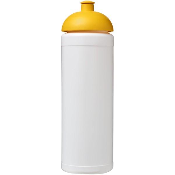 Sportovní láhev s kupolovitým víčkem Baseline® Plus grip 750 ml - Bílá / Žlutá