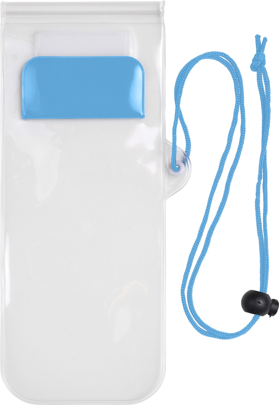 PVC pouch for mobile devices - Light Blue