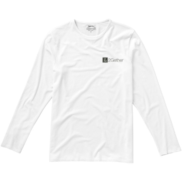 Curve long sleeve men's t-shirt - White / S