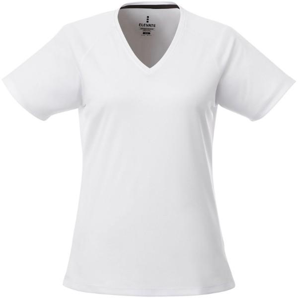 Amery short sleeve women's cool fit v-neck shirt - White / XS