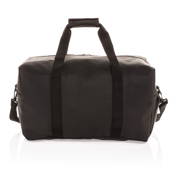 Smooth PU weekend duffle - Black