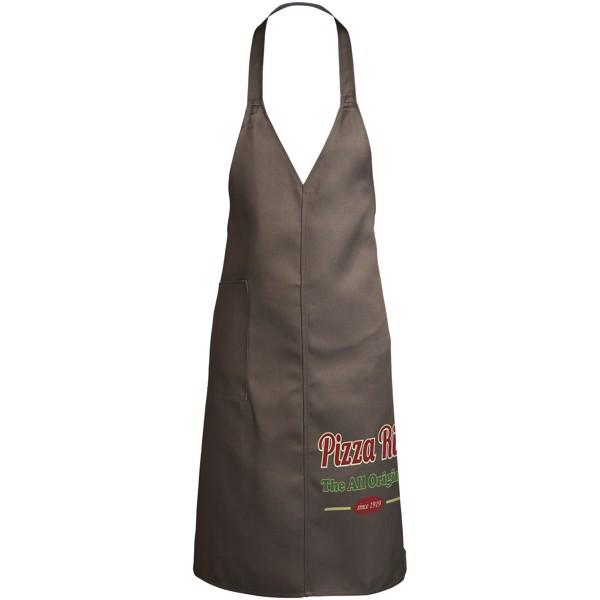 Verona v-neck apron - Grey