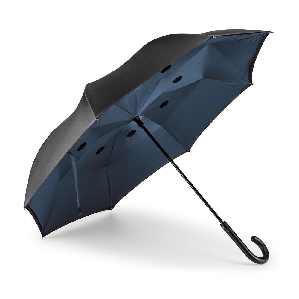 ANGELA. Αναστρέψιμη ομπρέλα - Μπλε