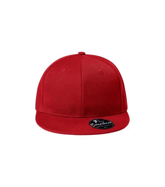 Čepice unisex Malfini Rap 6P - Červená / nastavitelná