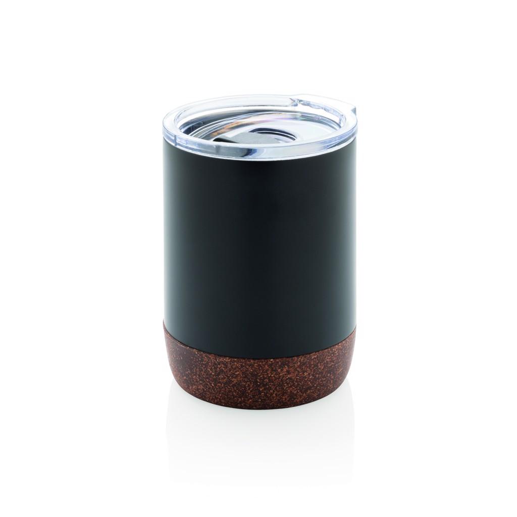 Malý korkový termohrnek - Černá