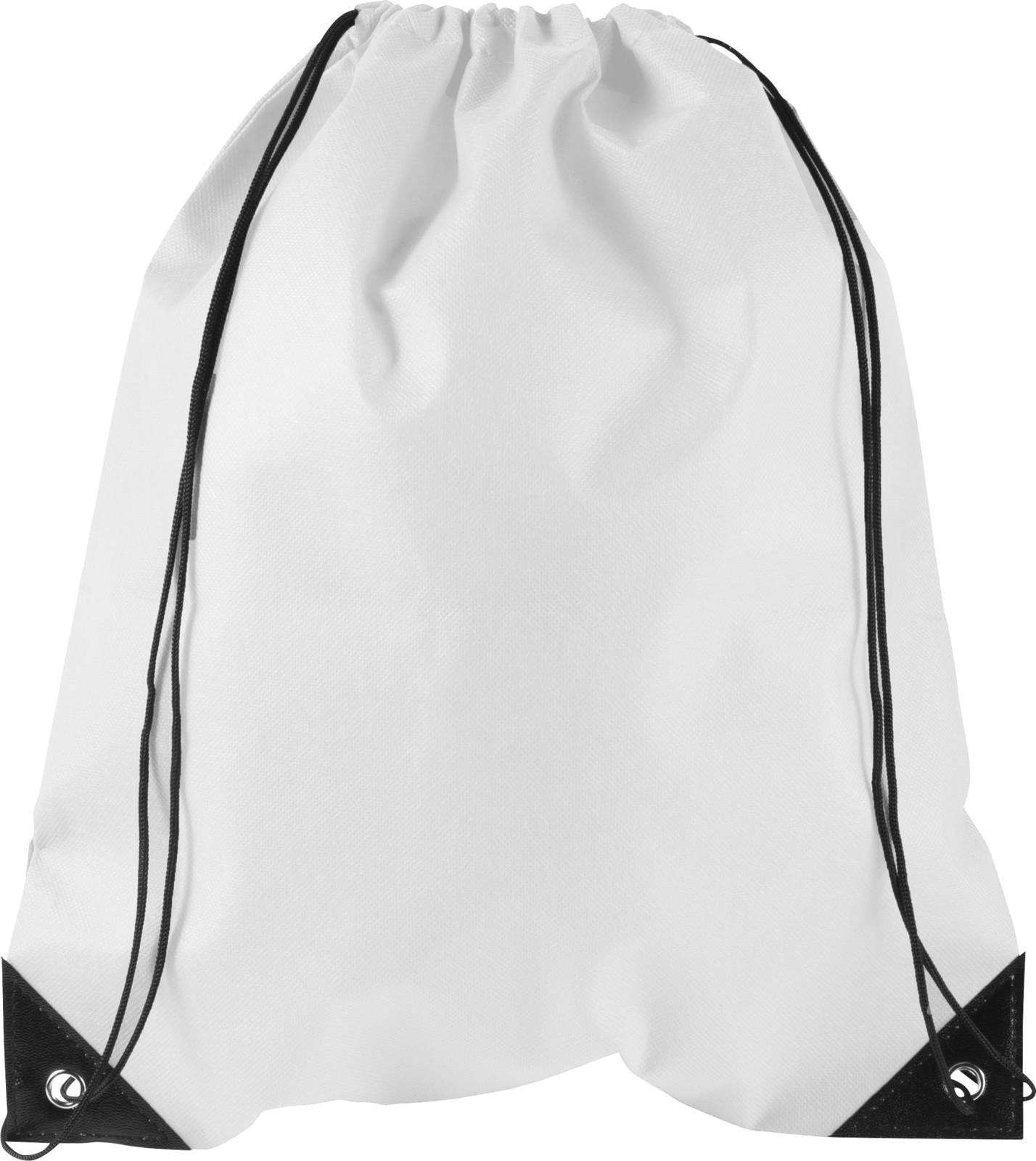Nonwoven (80 gr/m²) drawstring backpack - White