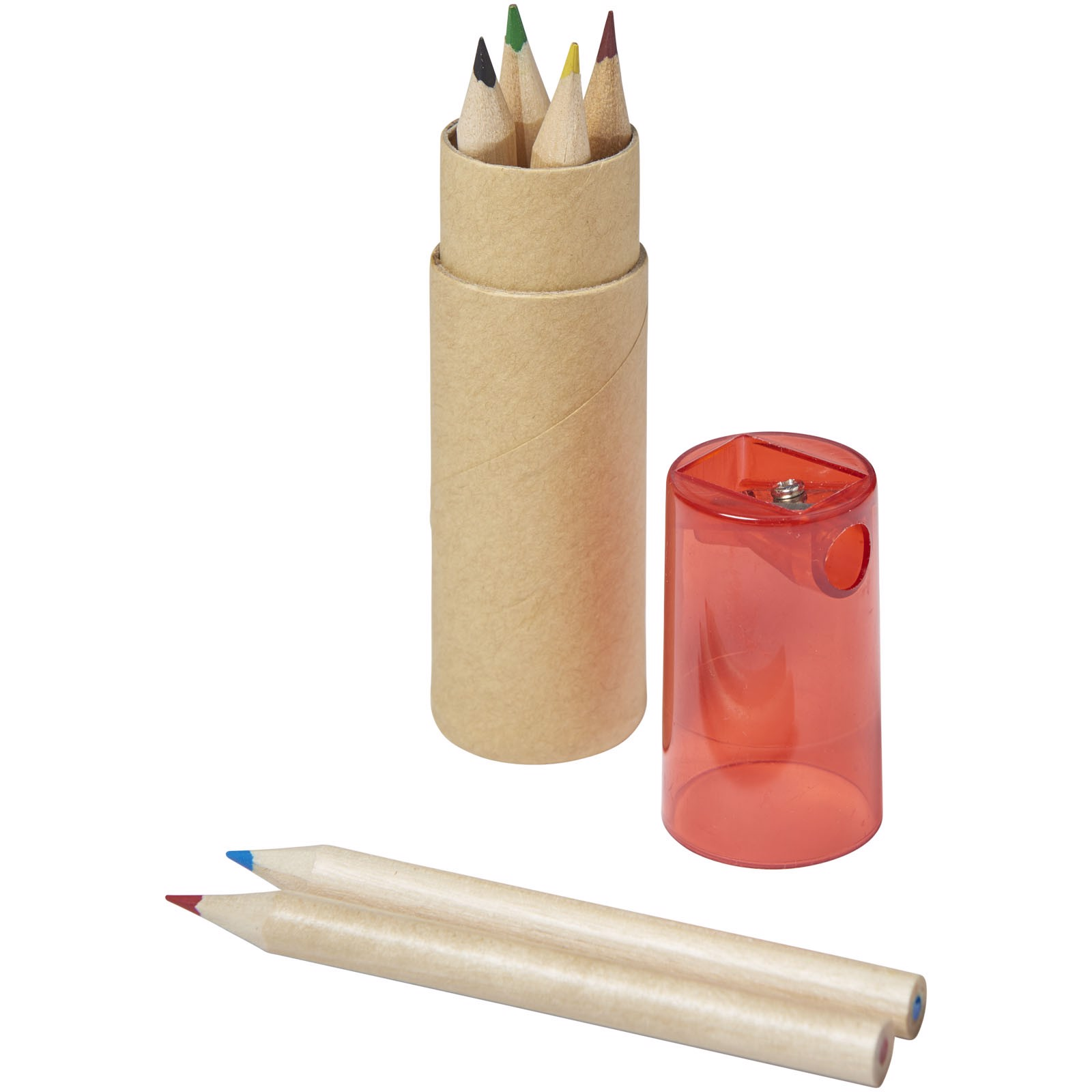 Kram 7-piece coloured pencil set - Red