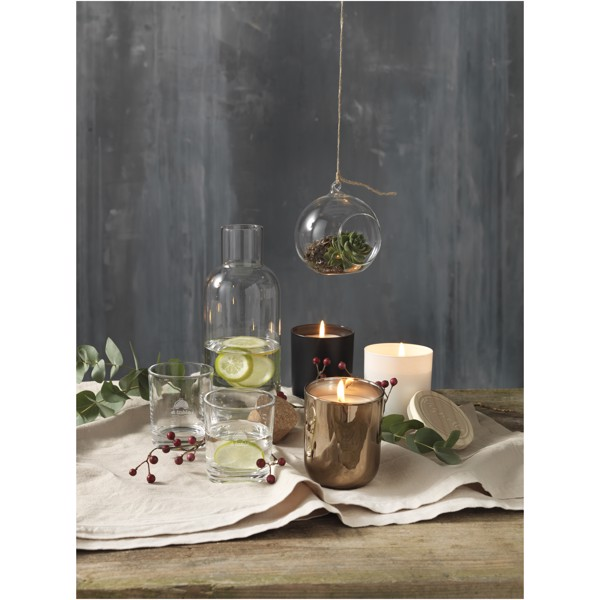 Lani candle with wooden lid - Solid Black