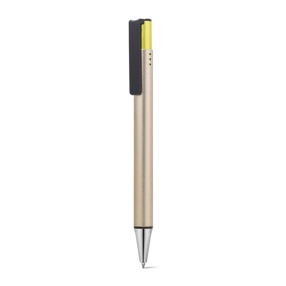 MATCH. Hliníkové a ABS kuličkové pero - Saténově Zlatá