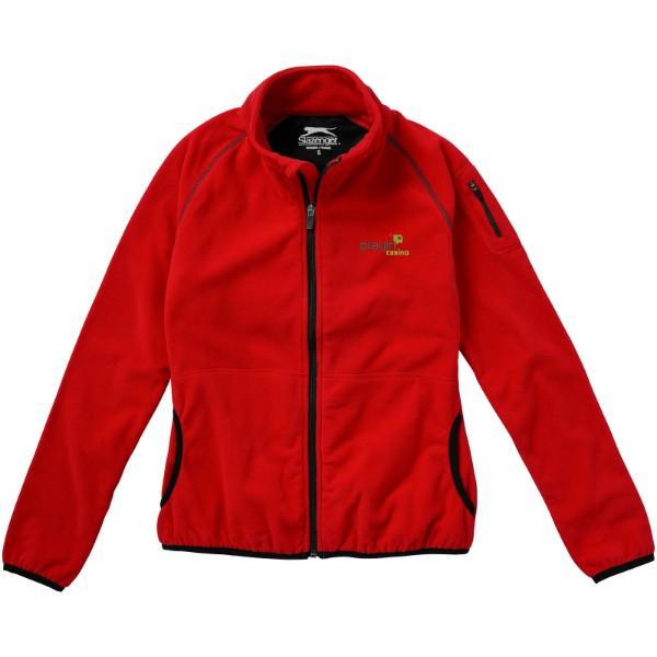Dámská bunda Drop shot z materiálu mikro fleece - Červená s efektem námrazy / XXL
