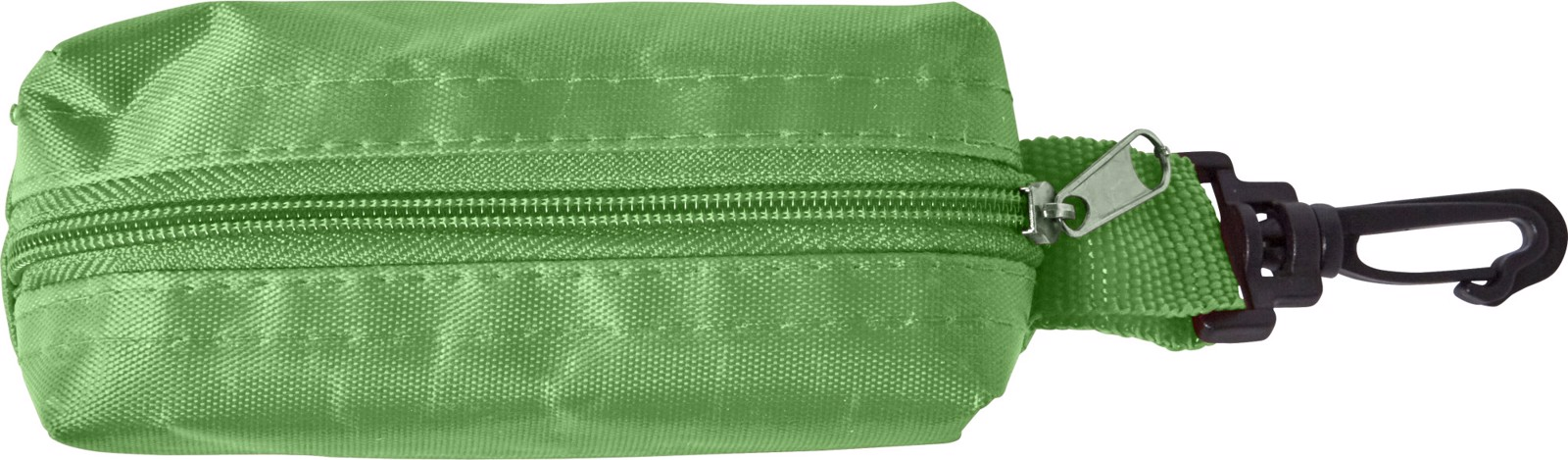 Polyester pouch with pencils - Green