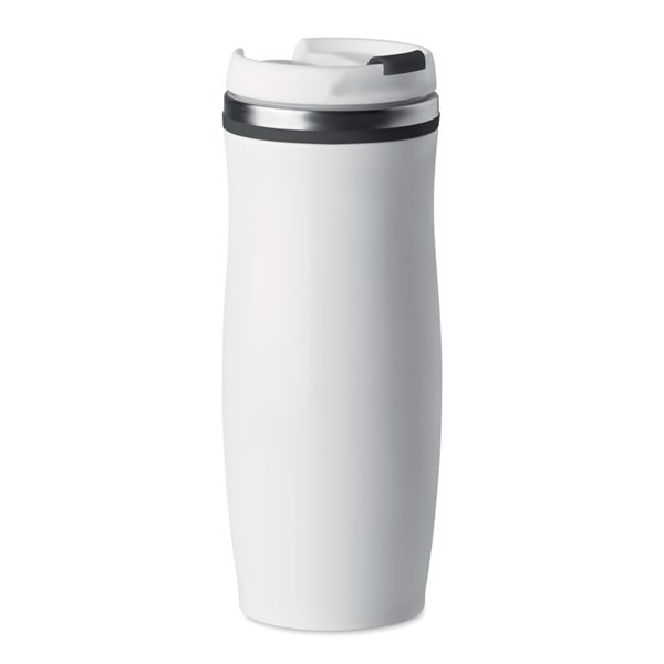400 ml double wall SS mug White - Black