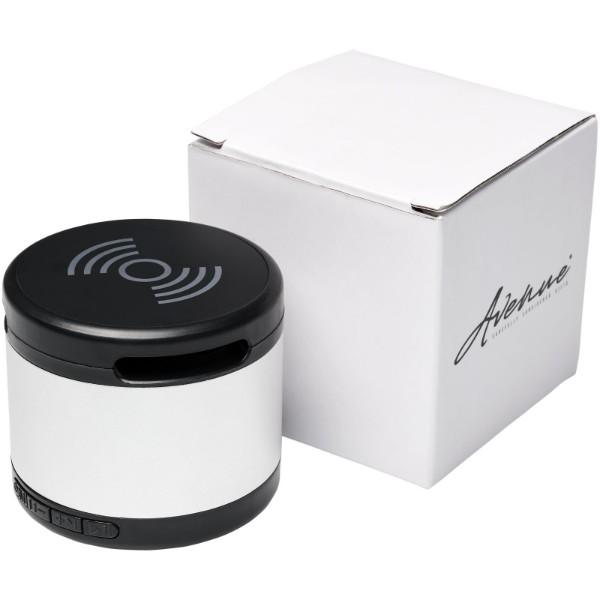 Kovový Bluetooth® reproduktor s bezdrátovou nabíjecí podložkou Jones