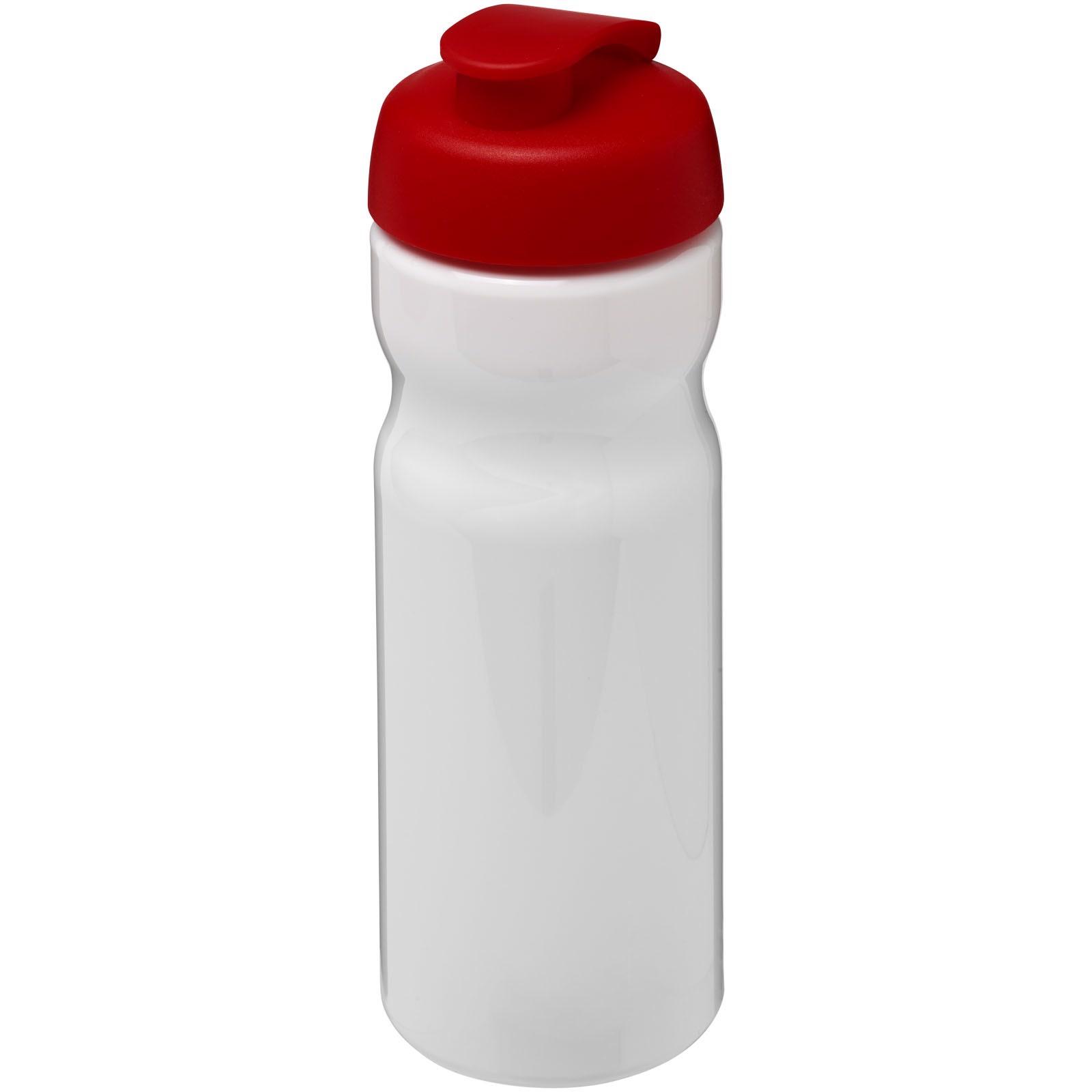 Sportovní láhev s vyklápěcím víčkem H2O Base® 650 ml - Bílá / Červená s efektem námrazy