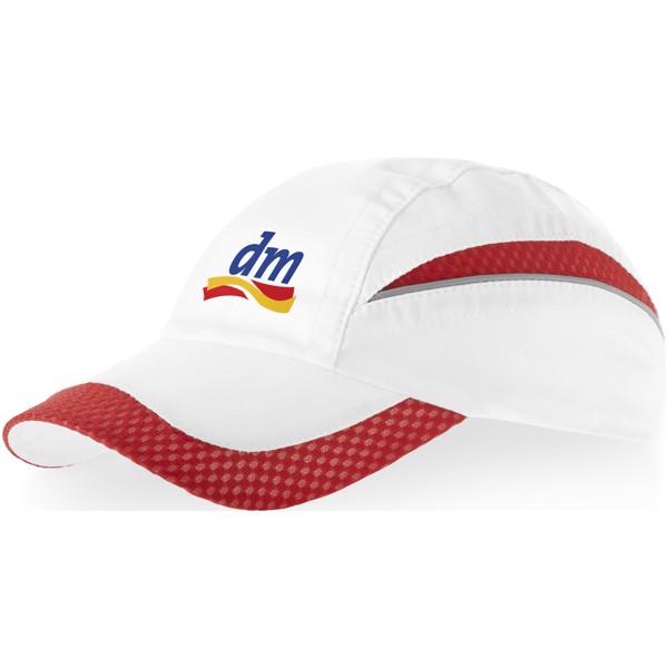 Qualifier 6 panel mesh cap - White / Red