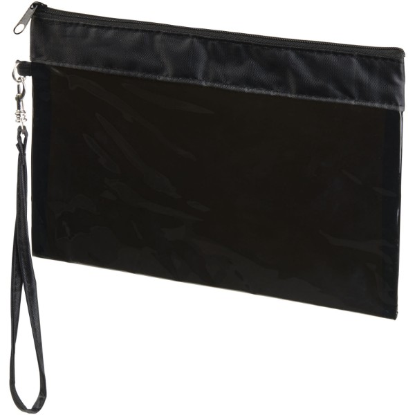 Sid seethrough travel pouch - Transparent black