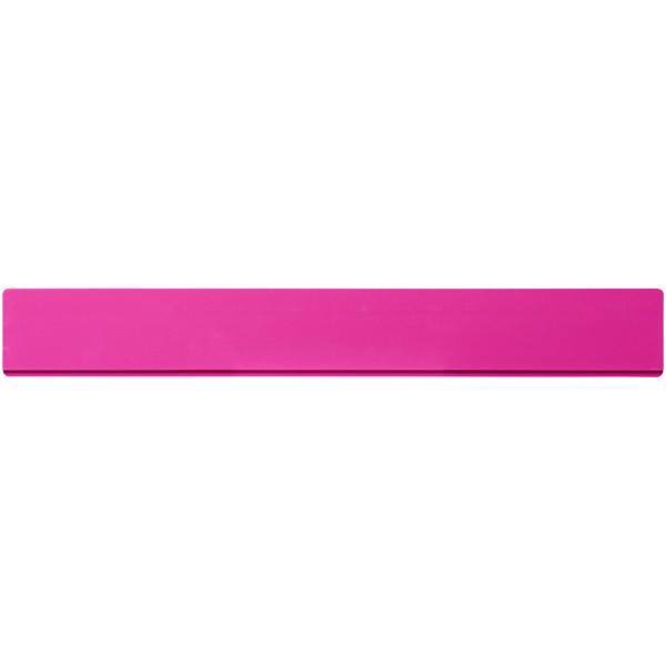Renzo 30 cm plastic ruler - Magenta