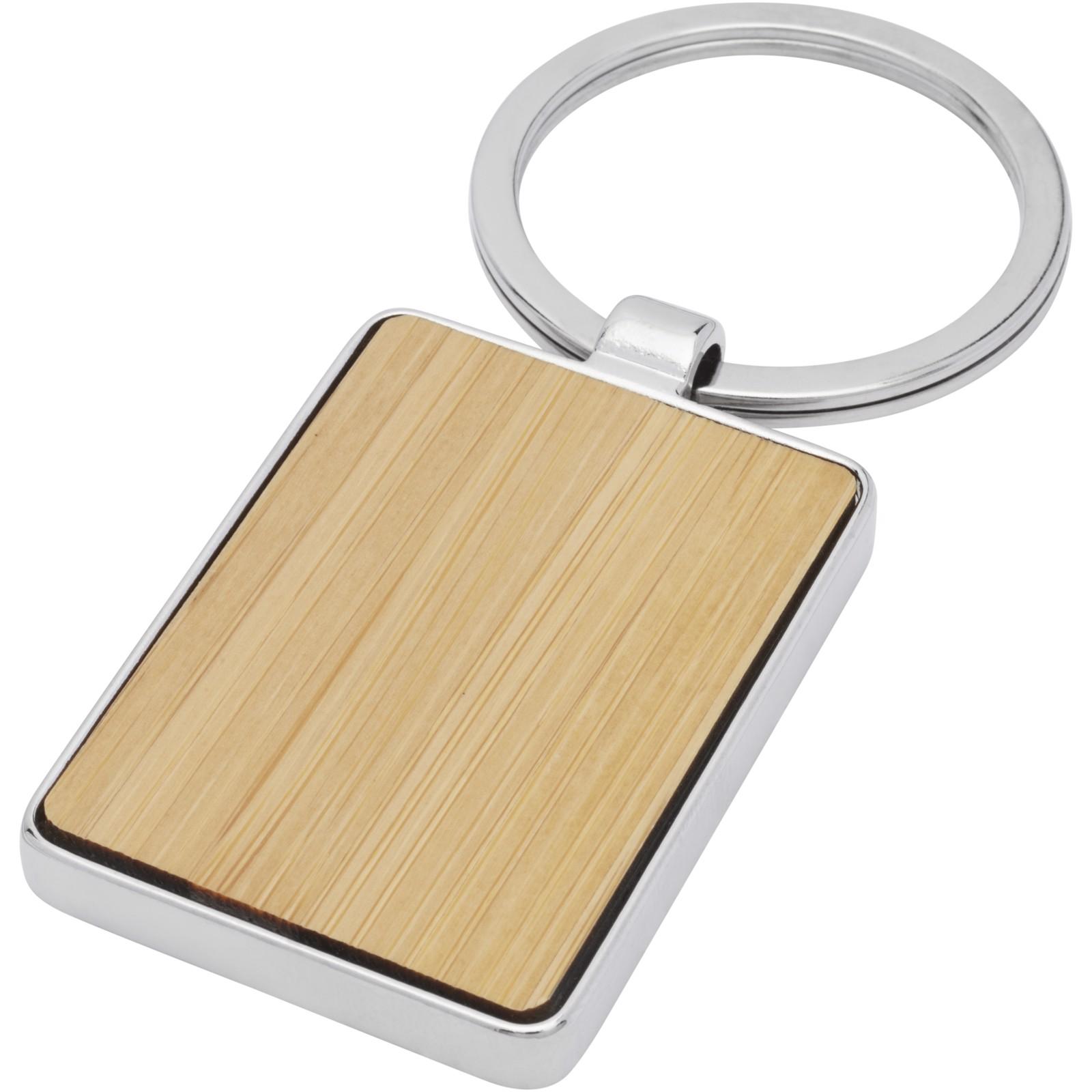 Neta bambusová obdélníková klíčenka