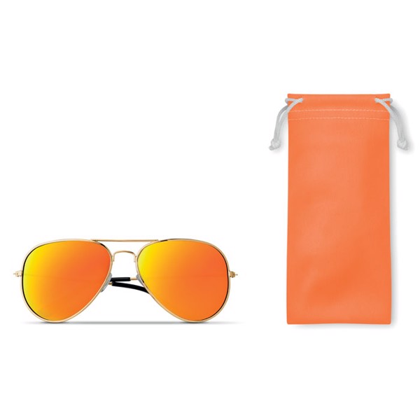 Sunglasses in microfiber pouch Malibu - Orange