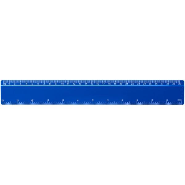 Renzo 30 cm plastic ruler - Blue