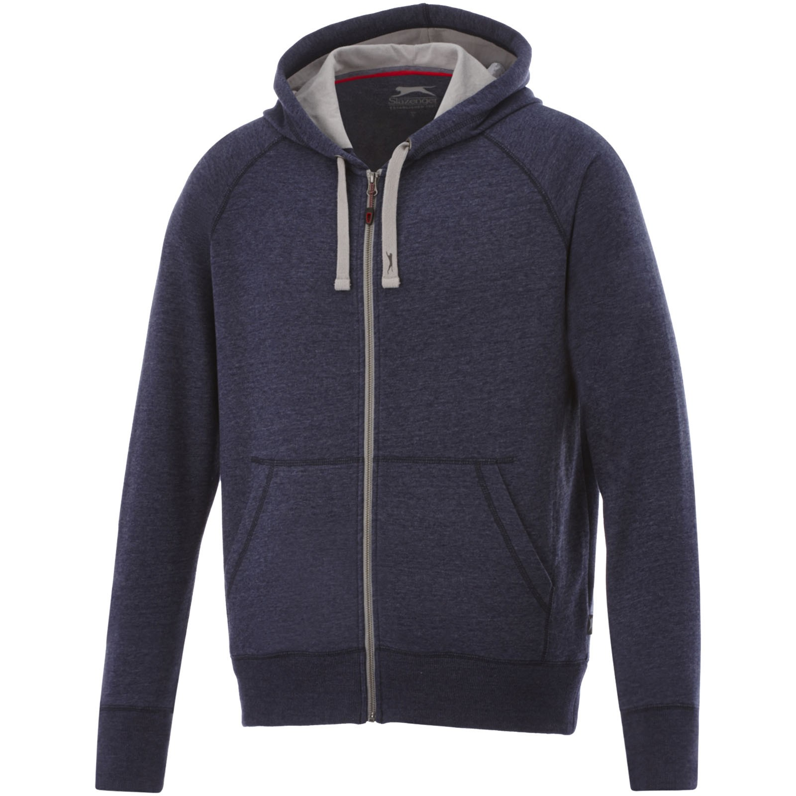 Groundie full zip hoodie - Heather blue / L