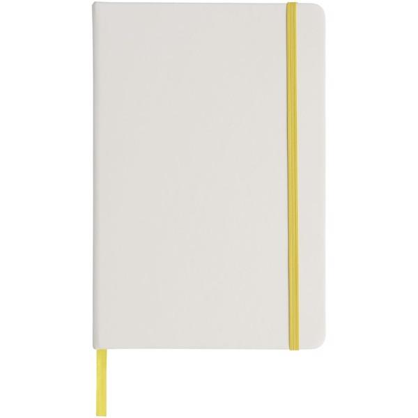 Bílý zápisník Spectrum A5 s barevnou páskou - Bílá / Žlutá
