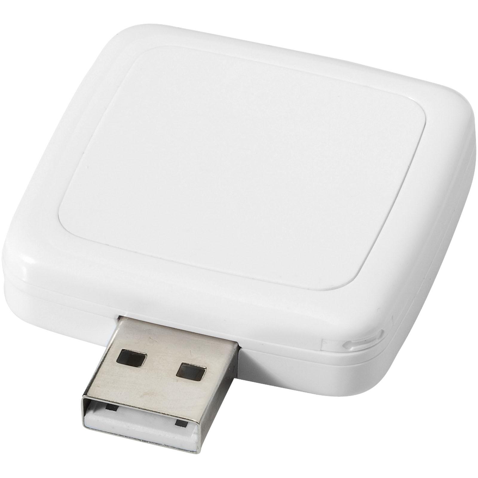 Rotating square USB - White / 1GB