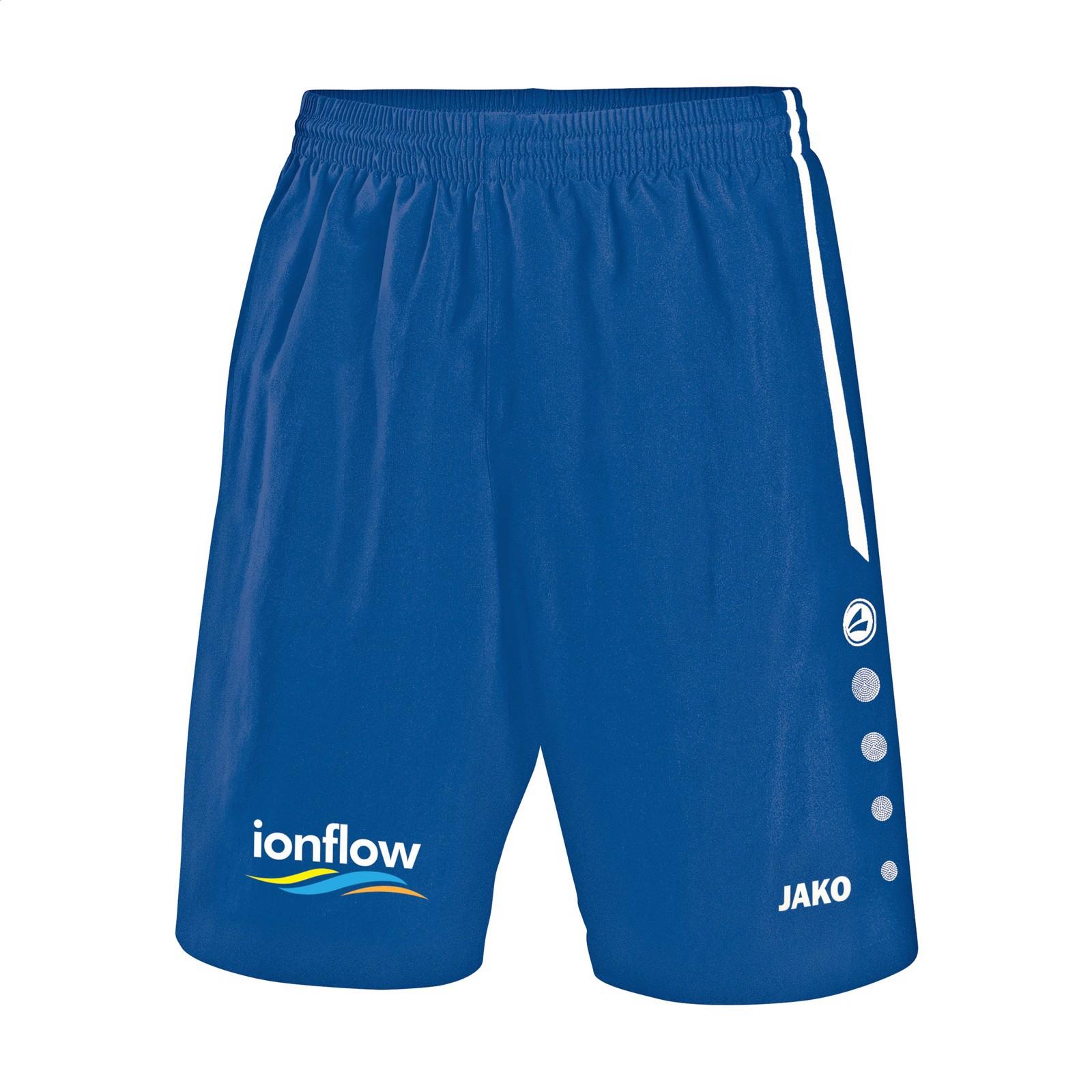 Jako® Short Turin Kids sportspants - Royal Blue / White / 152