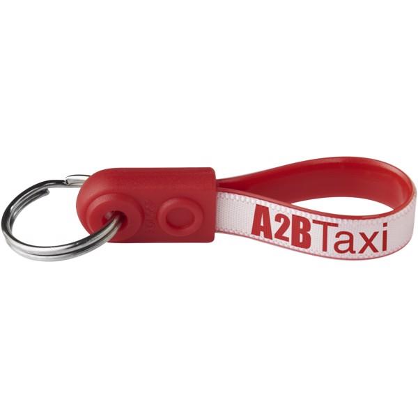 Klíčenka AD-Loop® Mini - Červená s efektem námrazy