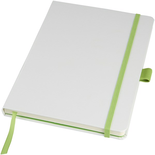 Meyla A5 colourful hard cover notebook - White