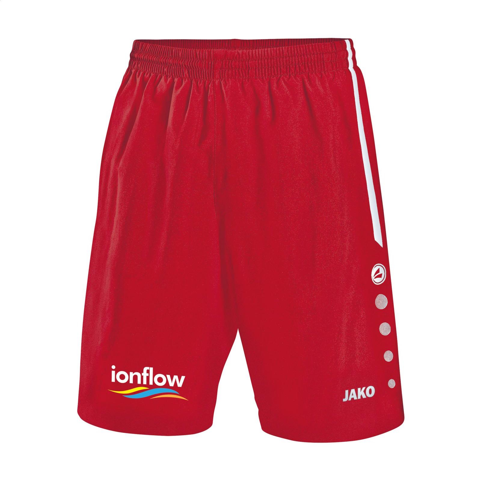Jako® Short Turin Kids sportspants - Red / White / 128