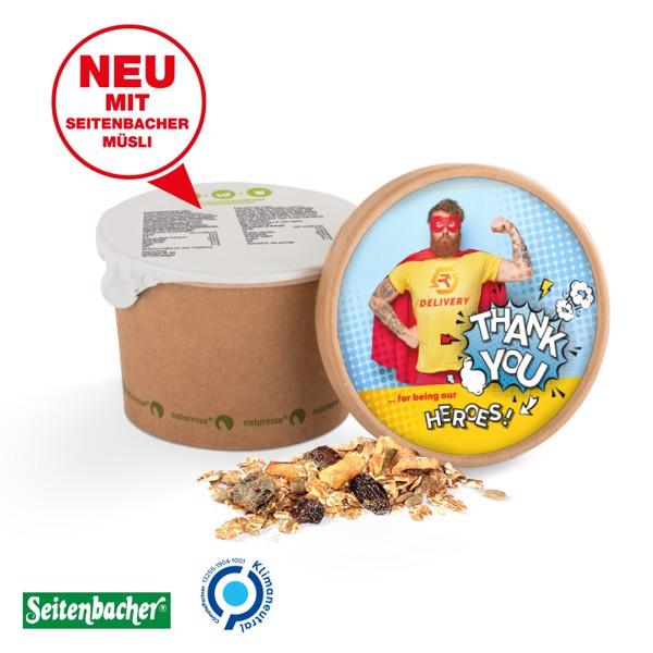 Müslibecher Seitenbacher Vollkorn-Früchte-Müsli - Braun / Vollkorn-Früchte-Müsli