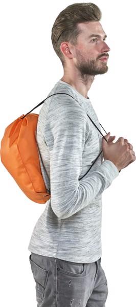 Nonwoven (80 gr/m²) drawstring backpack - Orange