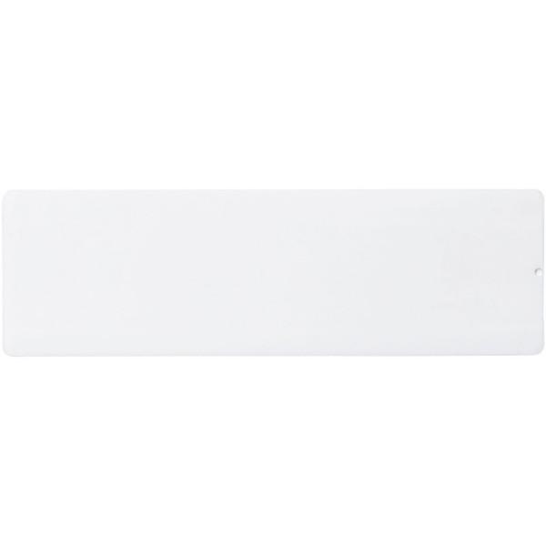 Plastové pravítko Ellison 15 cm s papírovou vložkou - Bílá